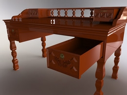 Wood Desk Rustic