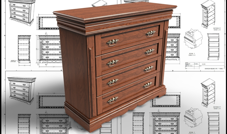 Drawer Chest Cabinet | 3D CAD Model Library | GrabCAD
