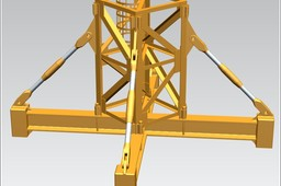 TOWER CRANE -Crane body segment ground base-