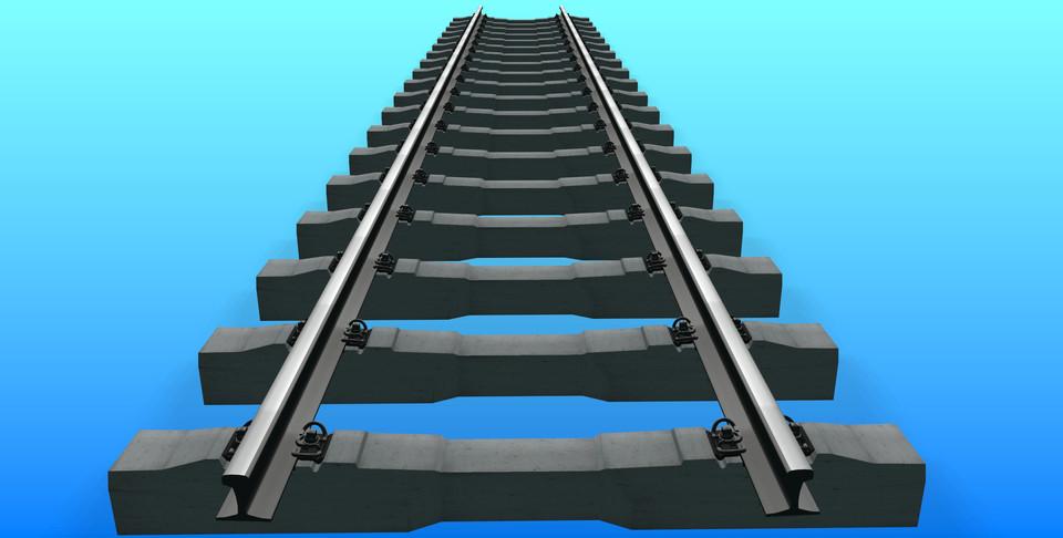 Normal gauge railway track | 3D CAD Model Library | GrabCAD