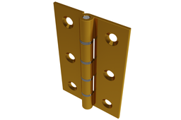 76 x 50mm Double Steel Washered Brass Butt Door Hinge