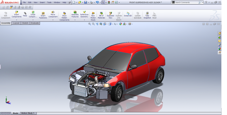 building an engine in solidworks