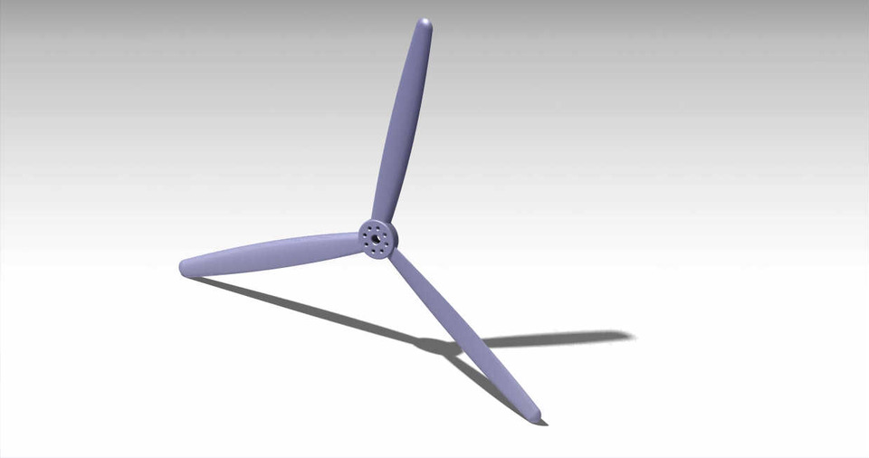 Aircraft Propeller | 3D CAD Model Library | GrabCAD