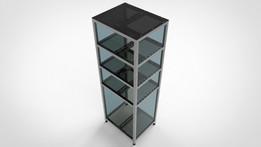 Wardrobe Basic - Aluminium profile frame