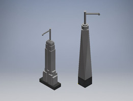 Soap Bottle Buidings - Freedom Tower & Empire State Building