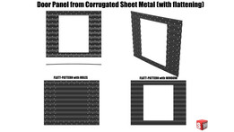 Door Panel from Corrugated Sheet Metal