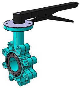 Butterfly valve DN50