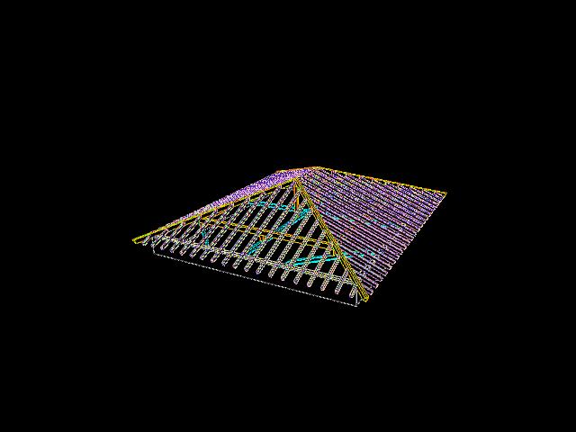 Tejado A Cuatro Aguas 3d Cad Model Library Grabcad