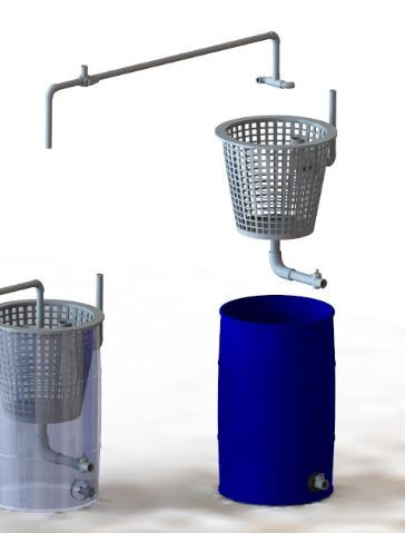 Large Particle Swirl Filter/ 200 Liter Barrel | 3D CAD Model