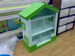 Стеллаж-домик для кукол и детских книг