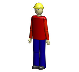6ft tall human Male with hard hat
