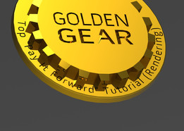 Golden Gear lapel/tie pin