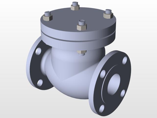 Swing Check Valve   3D CAD Model Library   GrabCAD