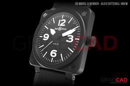 Bell & Ross Watch BR01-92 Timepiece - Matte Black