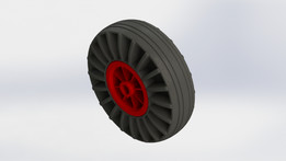 Boat trailer support wheel