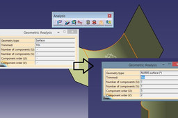 how to change trimmed yes to trimmed no in catia v5 gsd?