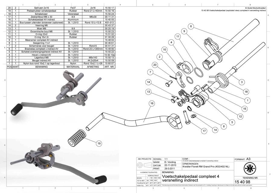 kreidler rm 4 speed grand prix gear assembly indirect