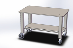 Rolling Work/Weld Table