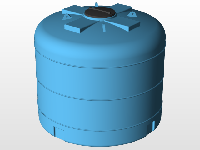 Water Tank 4500 | 3D CAD Model Library | GrabCAD