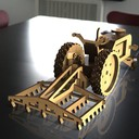 Tractor with tools