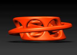 Self Intersecting Möbius Chain