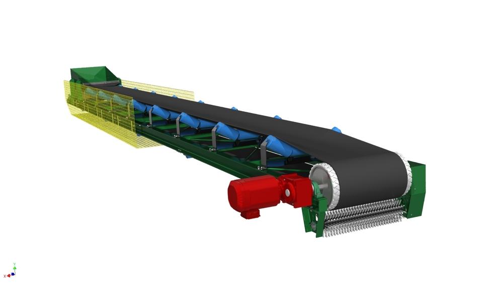 600mm Trough Conveyor 3d Cad Model Library Grabcad