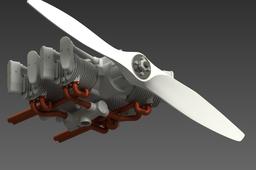 Jan Elgs 4-Cycle Boxer Engine