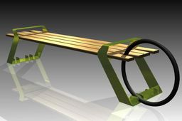 Bench and stand for bicycles