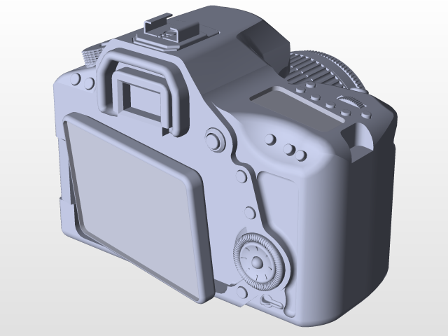 Canon EOS 80D 18-55mm IS STM | 3D CAD Model Library