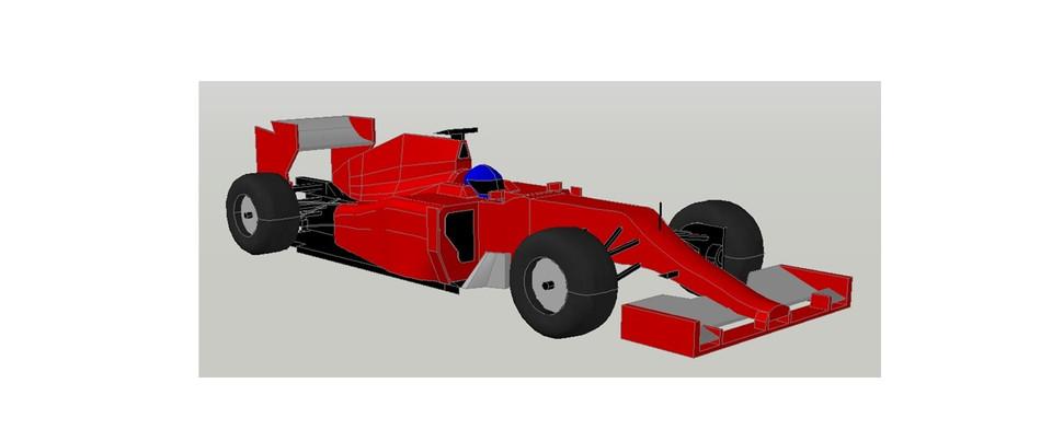 Ferrari F 1 Car Autocad File Dwg Format 3d Cad Model Library