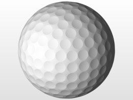 Golf Ball with Core, Mantle and Outer Casing