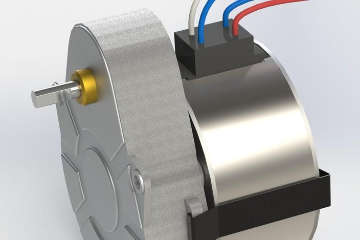 Motor Crouzet Keycreator Stl Step Iges Solidworks