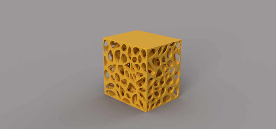 Voronoi Stool | 3D CAD Model Library | GrabCAD
