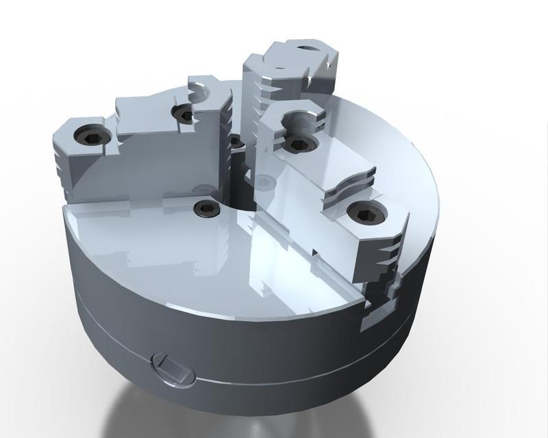 Lathe chuck Creo 3   3D CAD Model Library   GrabCAD