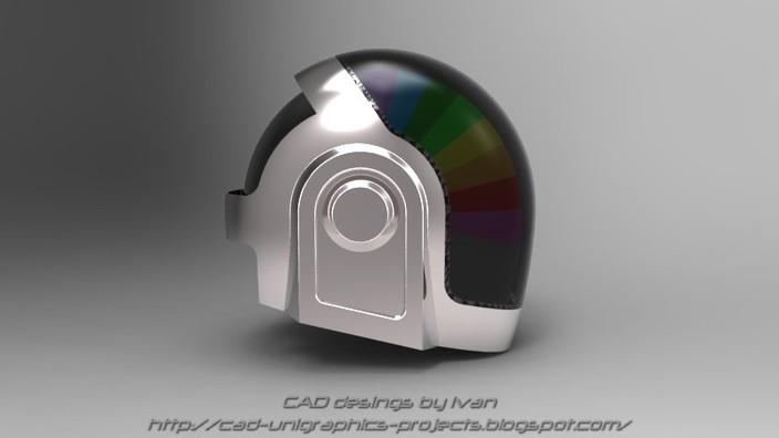 how to make a daft punk helmet thomas