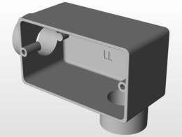 Condulete Aluminio 3/4 com Rosca Tipo LL
