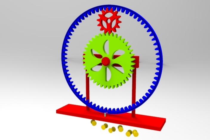 Perpetual motion using with Gear and Gravity.
