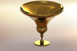 Gold and glass cup