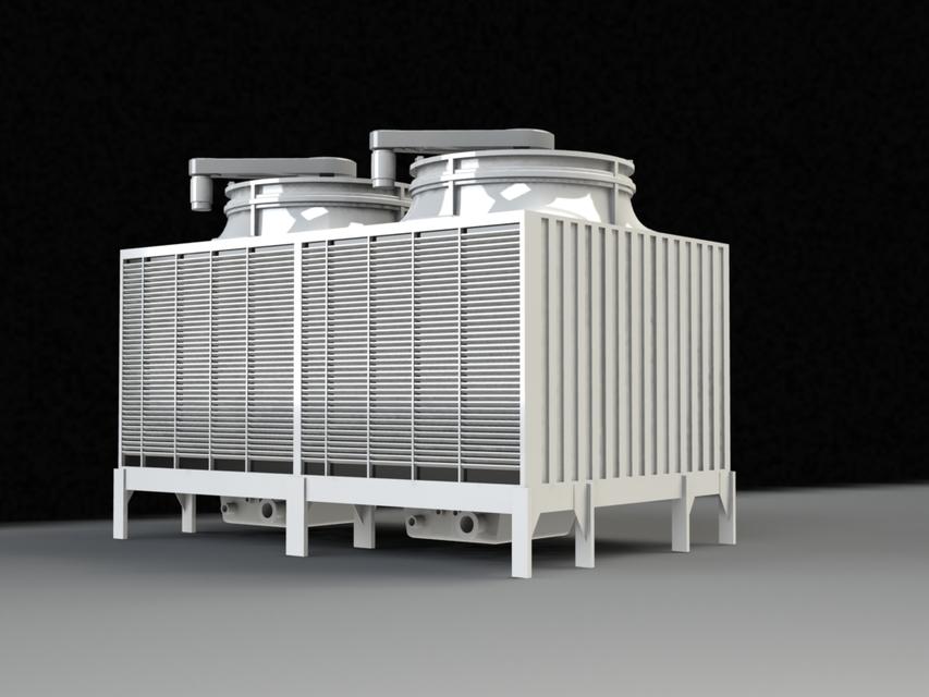 Amcot Lrc H 450 Cooling Tower 3d Cad Model Library Grabcad