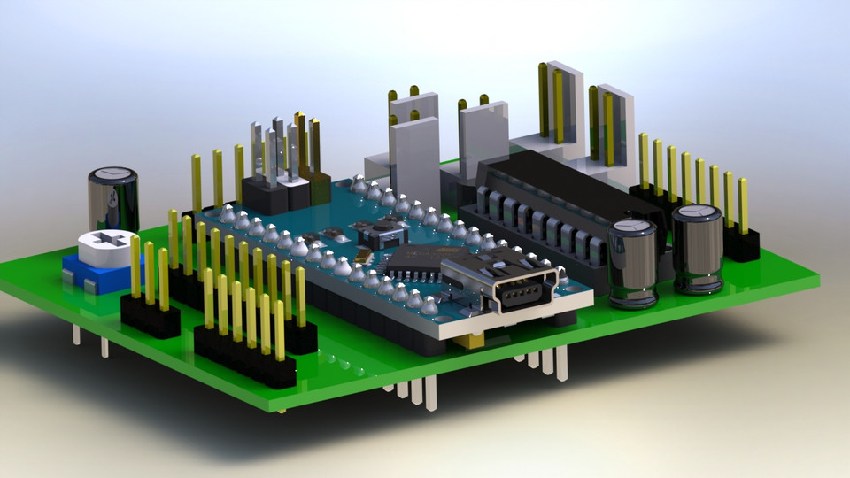 3d printed circuit board(pcb) 3d cad model library grabcadload in 3d viewer uploaded by anonymous
