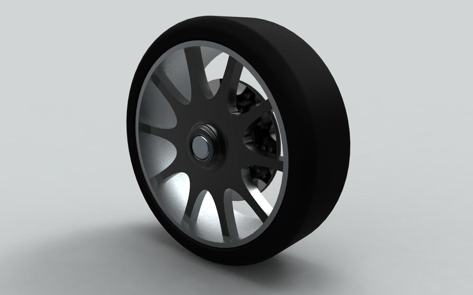Car Rim in Rhino | 3D CAD Model Library | GrabCAD