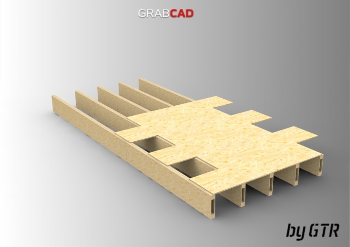 Homemade Composite Beams   3D CAD Model Library   GrabCAD