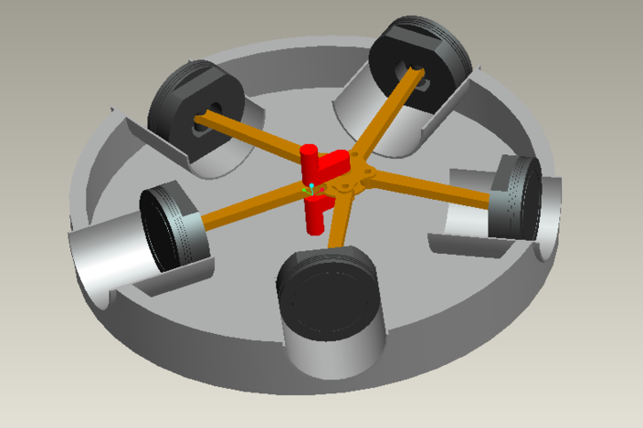 Rotary Engine Model Pro Engineer Wildfire 3d Cad Model