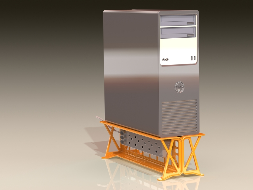 Pc Tower Stand 3d Cad Model Library Grabcad