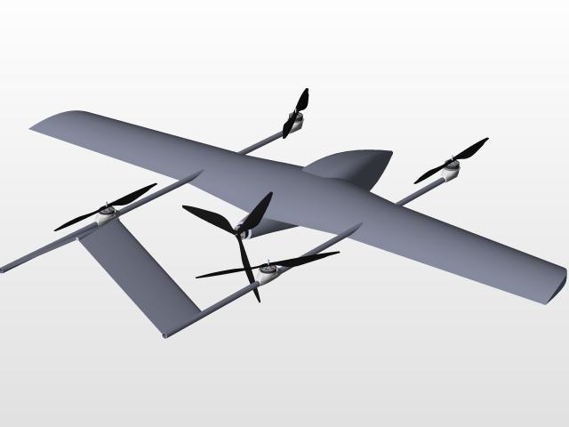 BARLAS VTOL UAV | 3D CAD Model Library | GrabCAD