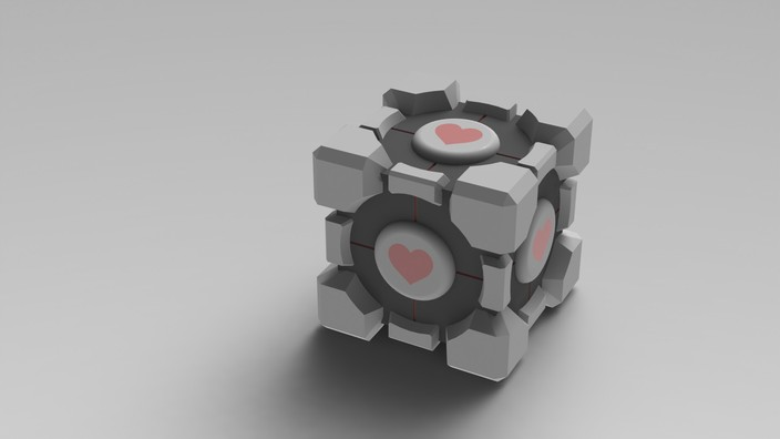 Portal 1 Weighted Companion Cube