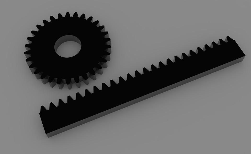 Module 1 Metric Rack And Pinion Rhino Cad Model Grabcad