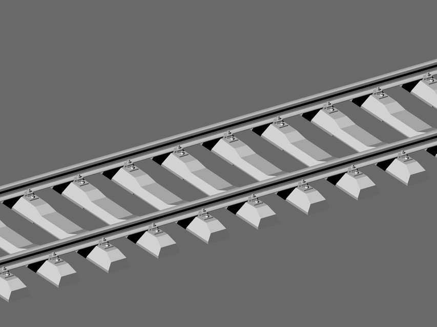 Railway Tracks | 3D CAD Model Library | GrabCAD
