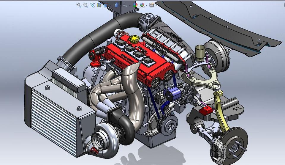 1000 HP Turbo 92-95 drag civic hatch four cylinder build b