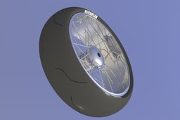 Rear Motorcycle spoked with tyre